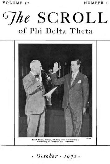 1932–33 Volume 57 No 1–5 - Phi Delta Theta Scroll Archive