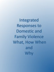 Integrated Responses to Domestic and Family Violence ...