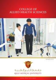 BPT Program Brochure - Gulf Medical University