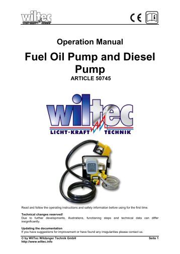 Bryce Fuel Injection Pump Manual