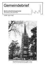 Dietmar Jansen Bestattungen - Martin-Luther-Gemeinde ...