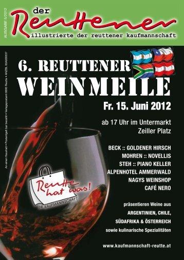 Reuttener Mai 2012 - Kaufmannschaft Reutte
