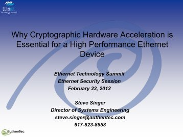 ESS Overview - Ethernet Technology Summit