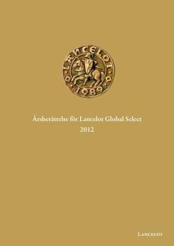 Årsberättelse 2012 - Lancelot Asset Management AB