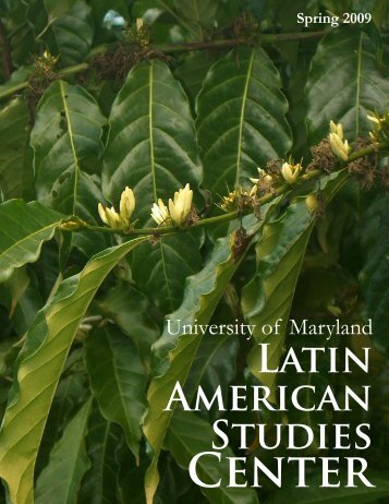 Spring 2009 - Latin American Studies Center - University of Maryland