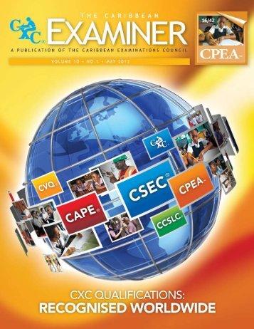 CXC Examiner May 2012 - Caribbean Examinations Council