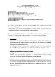 Discours du Président SIMONATO Inauguration ... - (CCI) de l'Yonne