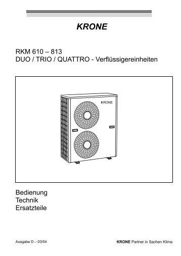 Bescheinigung über die - KRONE Kälte & Klima GmbH