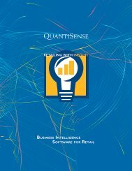 BuSINESS INTELLIGENCE SOFTWARE FOR RETAIL - QuantiSense