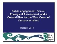 Ecological Assessment, and a Coastal Plan for the West Coast of ...