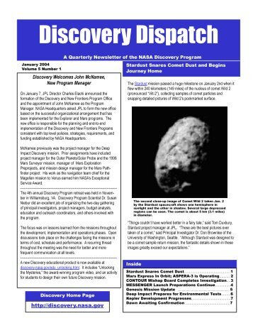 Read More... - New Frontiers - NASA