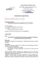 Proposition de sujet de thèse - Ecole Nationale d'Ingénieurs de Tarbes