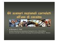 Gli scenari nazionali correlati all'uso di cocaina - Dronet