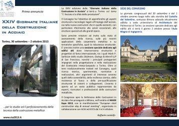 XXIV Giornate Italiane della Costruzione della Costruzione in Acciaio
