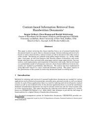 Content-based Information Retrieval from Handwritten ... - CEDAR