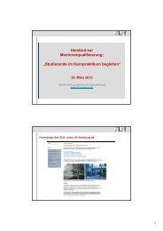Handout zur Mentorenqualifizierung ... - ZLH-Hamburg