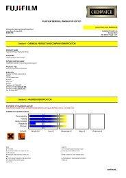 Chemwatch MSDS Print - FUJIFILM Australia