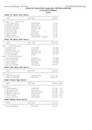 nz track field champs results day 1