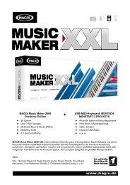 MAGIX Music Maker 2008 Producer Edition USB-MIDI-Keyboard ...
