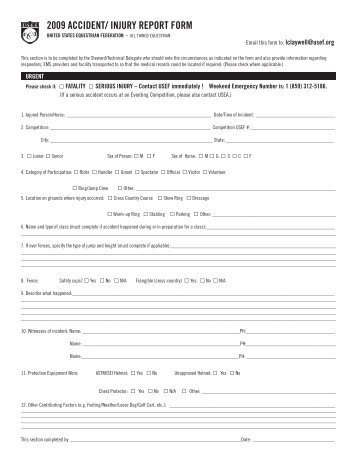 2009 CCI and CIC Entry Form - United States Eventing Association