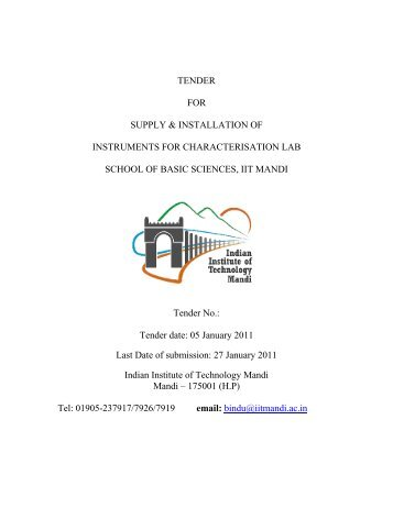 Tender Notice - IIT Mandi