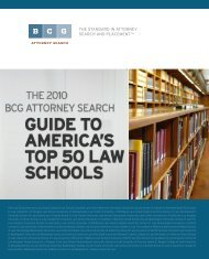 The 2010 BCG Attorney Search Guide - Legal Recruiters
