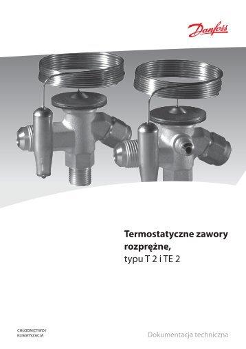 Termostatyczne zawory rozprężne, typu T 2 i TE 2