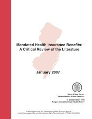 Mandated Health Insurance Benefits: A Critical Review of the ...