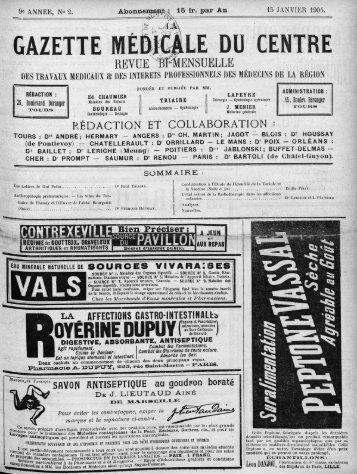 15 janvier 1904 - Université François Rabelais
