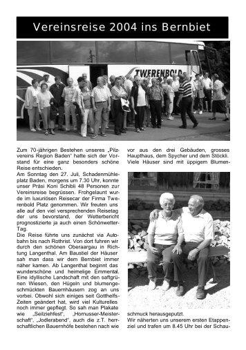 Vereinsreise 2004 ins Bernbiet - Pilzverein Region Baden