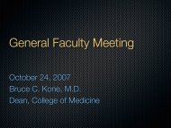 General Faculty Meeting - College of Medicine