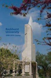 2008-2010 Catalog - Rockhurst University