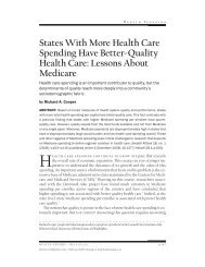 States With More Health Care Spending Have Better-Quality Health ...