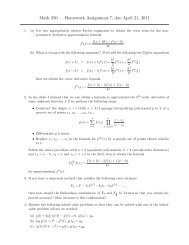 Math 350 — Homework Assignment 7, due April 21, 2011
