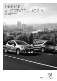 Peugeot 207 SW Preisliste [PDF]
