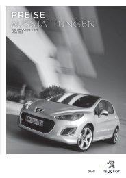 Peugeot 308 Preisliste
