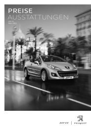 Peugeot 207 CC Preisliste [PDF]