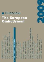 The European Ombudsman - europäisches ombudsmann institut