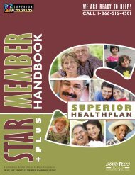 Prov Dir Web Cover Template.indd - Superior HealthPlan