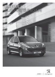 Peugeot 206+ Preisliste