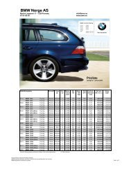 Last ned. Gyldig prisliste for BMW M5 Touring (PDF, 280k).