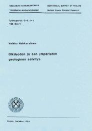Y30 / 84 / 1 - Arkisto.gsf.fi - Geologian tutkimuskeskus