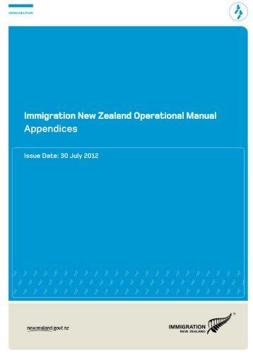 Appendices - New Zealand Immigration Service