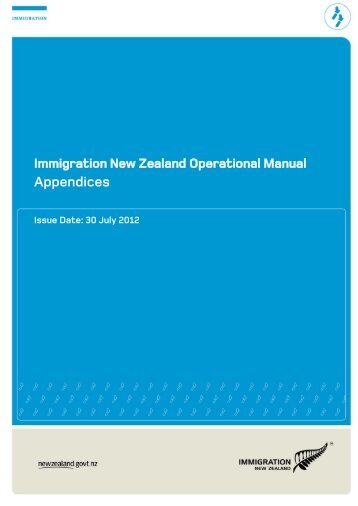 Appendices - New Zealand Immigration Service