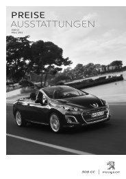 Peugeot 308 CC Preisliste [PDF]