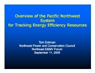 Overview of the Pacific Northwest System for Tracking Energy ...