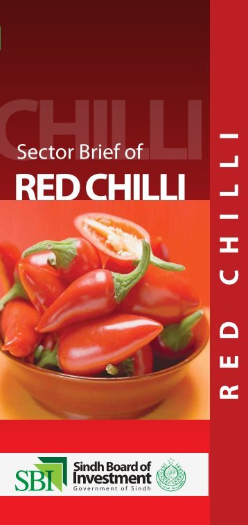 Sector brief Red Chilli - Sindh Board Of Investment, Government Of ...