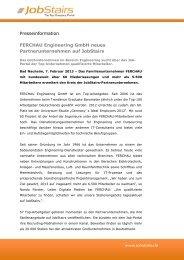 FERCHAU Engineering GmbH neues ... - JobStairs