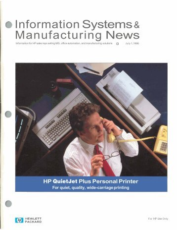 a Information Systems s Manufacturing News - HP Computer Museum