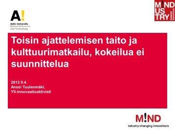 2013 04 09 kulttuurimatkailu Tuulenmäki (pdf) - Maaseutupolitiikka